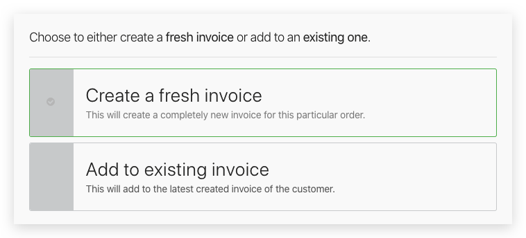 Add Order to Invoice