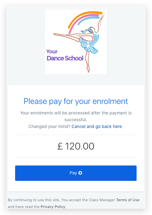 Enrollment Make Payment
